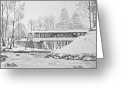 Saco River Greeting Cards - Saco River Bridge Greeting Card by Tim Murray
