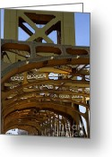 Sacramento River Greeting Cards - Sacramento California Tower Bridge Crossing The Sacramento Delta River . 7D11566 Greeting Card by Wingsdomain Art and Photography