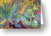 Tag Art Greeting Cards - Sacred Agave Greeting Card by Steven Holder