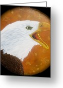 Shaman Drum Greeting Cards - Sacred Eagle Greeting Card by Ethan  Foxx