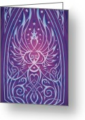 Stars Digital Art Greeting Cards - Sacred Feminine Greeting Card by Cristina McAllister