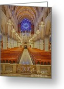 Religious Building Greeting Cards - Sacred Heart Cathedral Basilica Greeting Card by Susan Candelario