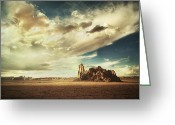 Barren Land Greeting Cards - Sacred Land Greeting Card by Stuart Deacon