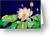 Zen Art Greeting Cards - Sacred Lotus Greeting Card by Robert Hooper