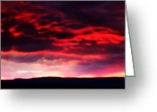 Sunset Jewelry Greeting Cards - Sacred New Mexico Greeting Card by Sian Lindemann