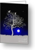 Sacred Photo Greeting Cards - Sacred Raven Tree Greeting Card by Robert Foster