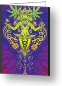 Hippie Art Greeting Cards - Sacred Smoke Greeting Card by Cristina McAllister