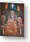 Cavern Greeting Cards - Sacred Tradition Greeting Card by Judy Via-Wolff