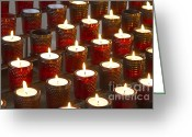 Sacrificial Greeting Cards - Sacrificial Candles 2 Greeting Card by Heiko Koehrer-Wagner