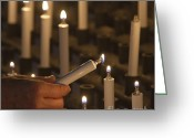 Sacrificial Greeting Cards - Sacrificial Candles 3 Greeting Card by Heiko Koehrer-Wagner