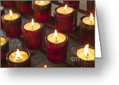 Sacrificial Greeting Cards - Sacrificial Candles Greeting Card by Heiko Koehrer-Wagner