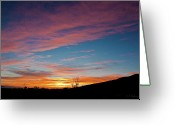 Christopher Holmes Photography Greeting Cards - Saddle Road Sunset Greeting Card by Christopher Holmes