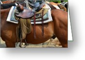 Partner Greeting Cards - Saddle Up Partner Greeting Card by Robert Harmon