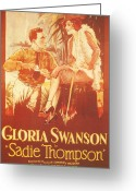Motion Picture Greeting Cards - Sadie Thompson Greeting Card by Nomad Art and  Design