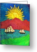 Bill Cannon Mixed Media Greeting Cards - Safe Harbor Greeting Card by Bill Cannon