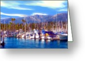 Santa Barbara Digital Art Greeting Cards - Safe Haven Greeting Card by Kurt Van Wagner