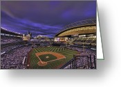 Seattle Greeting Cards - Safeco Field Greeting Card by Dan McManus