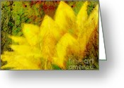 Flower Photograph Greeting Cards - Saffron Dream Greeting Card by Ann Powell