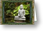 Contemplative Greeting Cards - Sage of Peace Greeting Card by Bell And Todd