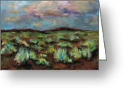 Plants Pastels Greeting Cards - SageBrush Greeting Card by Frances Marino