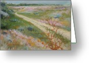 Washington Pastels Greeting Cards - Sagebrush Road Greeting Card by LaDonna Kruger