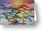 Deb Ronglien Watercolor Greeting Cards - Sahara Greeting Card by Deborah Ronglien