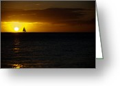 Waikiki Beach Greeting Cards - Sail Away Greeting Card by Ralf Kaiser