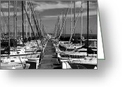 Oakland Bay Bridge Greeting Cards - Sail Boats at San Francisco China Basin Pier 42 With The Bay Bridge in The Background . 7D7166 Greeting Card by Wingsdomain Art and Photography