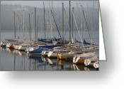 Boats Greeting Cards - Sail Boats Greeting Card by Enzie Shahmiri