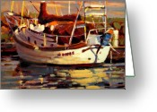 Boat Greeting Cards - Sailboat Greeting Card by Brian Simons