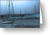 Boats Greeting Cards - Sailboat Harbor Greeting Card by Karol  Livote