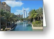 Souk Greeting Cards - Sailboat Hotel Greeting Card by Corinne Rhode