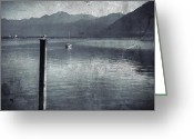 Stake Greeting Cards - Sailboat on Lake Maggiore Greeting Card by Joana Kruse