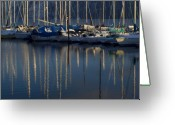 Bayview Greeting Cards - Sailboat Reflections Greeting Card by Idaho Scenic Images Linda Lantzy