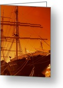Landscapes Greeting Cards - Sailin out of here Greeting Card by Julie Lueders