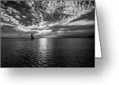 Florida Sunset Greeting Cards - Sailing  Greeting Card by Brad Boserup