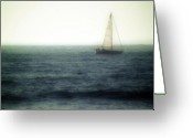 Huisken Greeting Cards - Sailing Greeting Card by Lyle  Huisken