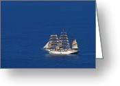 Williams Greeting Cards - Sailing Ship- St Lucia Greeting Card by Chester Williams