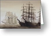 Sailing Ships Greeting Cards - Sailing Ships Greeting Card by James Williamson