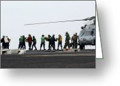 Assistance Greeting Cards - Sailors And Marines Load Supplies Onto Greeting Card by Stocktrek Images