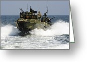 Armament Greeting Cards - Sailors Navigate The Waters Greeting Card by Stocktrek Images