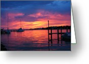Intercoastal Greeting Cards - Sails Down Greeting Card by Kent Dunning