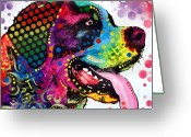 Pet Art Greeting Cards - Saint Bernard Greeting Card by Dean Russo