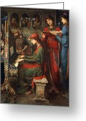 Sat Greeting Cards - Saint Cecilia Greeting Card by John Melhuish Strudwick