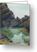 Tropical Island Pastels Greeting Cards - Saint Croix Greeting Card by Billie Colson