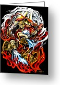 Fire Greeting Cards - Saint Florian Greeting Card by Michael Spano