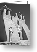 American Landmarks Greeting Cards - Saint Francisco de Asis Mission Greeting Card by Melany Sarafis