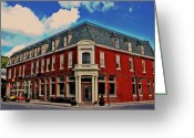 Lyle  Huisken Greeting Cards - Saint George Hotel in Weston MO Greeting Card by Lyle  Huisken