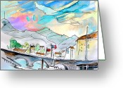 Luz Greeting Cards - Saint-Jean-de-Luz 03 Greeting Card by Miki De Goodaboom