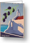 Greece Digital Art Greeting Cards - Saint Jean Olive Oil Greeting Card by Mitch Frey